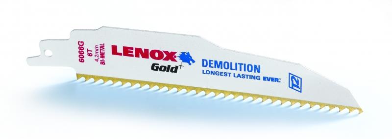 Panze Demolition LENOX Gold 6066G 150 mm 6TPI Lenox de la Unior Tepid