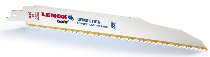 Panze Demolition LENOX Gold 966G 225 mm 6TPI Lenox de la Unior Tepid