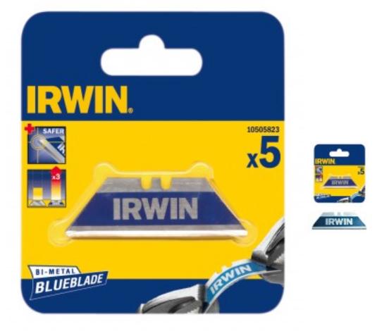 Set lame trapezoidale de securitate Bi-Metal Blue - 5 lame